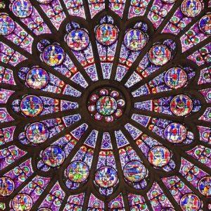 notre dame katedrali vitraylar